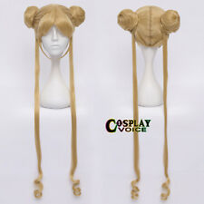 Sailor Moon Princess Usagi Tsukino 100CM Flaxen Long Anime Cosplay Wig+Ponytails
