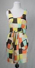 Sass & Bide Multicolor Belted Dress Size 2 NWT