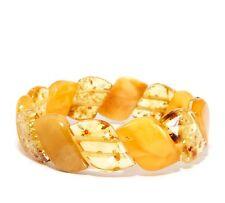 Genuine Adult Unique 13.9 g Mixed Stretch 18 cm Baltic Amber Bracelet