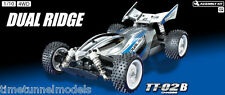 Tamiya 58596 Dual Ridge TT02B Buggy 4WD RC Kit-deal paquete con steerwheel Radio