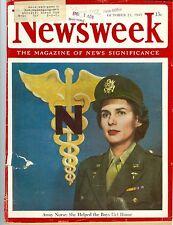NEWSWEEK  Army  nurse boys get home  October 22 1945