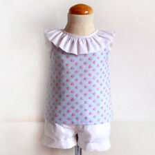 SEWING PATTERNS Paper Pattern Printed pattern OPEN BACK WITH BOW BLOUSE GIRLS'