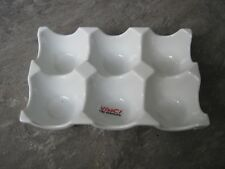 WHITE PORELAIN 6 EGG HOLDER - NEW