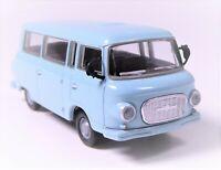 H0 BREKINA Barkas B 1000 KB Kleinbus Bus Transporter hellblau DDR # 30036