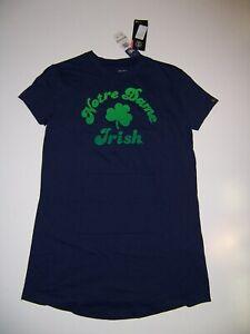 NWT Under Armour  NOTRE DAME Irish Blue T-Shirt dress Youth medium Girls New
