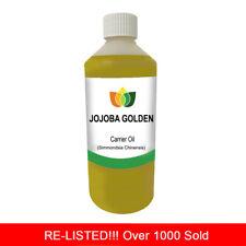 1L JOJOBA GOLDEN PURE OIL PREMIUM Cold Pressed Natural Carrier/Base 1 Litre
