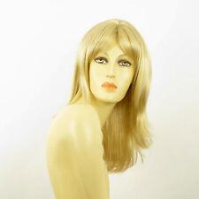 Perruque femme mi-longue blond doré méché blond très clair SOANNE 24BT613