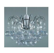 ORIEL CEILING ACRYLIC BALL DROP PENDANT LIGHT SHADE FITTING CLEAR CHANDELIER