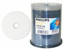 600 16X PHILIPS Brand White Inkjet HUB Printable DVD-R DVDR Disc Media 4.7GB