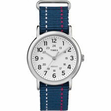 "Timex TW2R10700, ""Weekender"" Blue Fabric Watch, Indiglo"