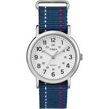 """Timex TW2R10700, """"Weekender"""" Blue Fabric Watch, Indiglo, TW2R107009J"""