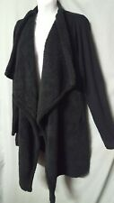 "Knox Rose Black Cardigan Sweater Jacket Lightweight  Size 2XL 50"" BUST"