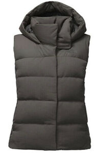 NWT The North Face WOMEN'S NOVELTY NUPTSE VEST Asphalt Grey Size M