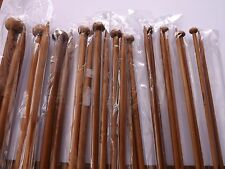 Carbonized Dark Bamboo Single Point Knitting Needles/Pins 5 mm 24.6cm 1 pair
