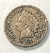 Brilliant 1862 Indian Head Cent! Lustrous, golden specimen!