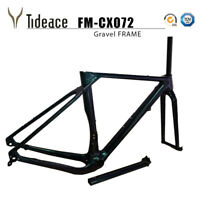 Aero Carbon Fiber Gravel Bicycle Frames 700*40C Road Racing Cyclocross Frame OEM