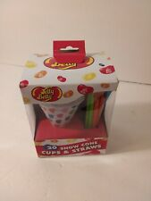 Jelly Belly Jb15928 Disposable Snow Cone Cups And Straws Set Of 20 Multicolored
