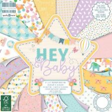 First Edition Paper Pad Hey Baby 12in X 12in FSC   48 Sheets