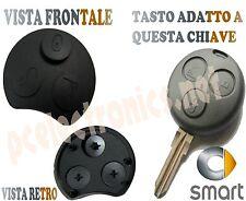 Ricambio chiave Gommino ricambio telecomando 3 tasti smart 450 fortwo fofour NEW