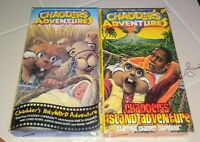 Lot of 2 VHS Chadder's Hollyword Island + Adventure Chabber Chipmunk Christian
