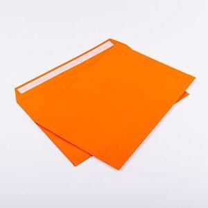 100 Briefumschläge orange DIN C5 ohne Fenster 162 x 229mm 120g/m² haftkl.( 305A)