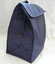 Reusable Insulated LUNCH BAG - NAVY BLUE - Tab Closure - Front Pocket