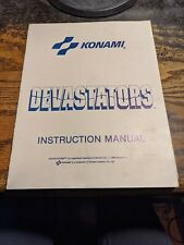 Konami Devastators Instruction Schematics Arcade Manual