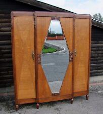 French 1930's Mahogany 3 Door Wardrobe (CON822)