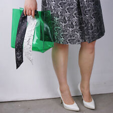 Clear Vinyl Plastic Bag Tote Shopper Square Round Handles Transparent Recycling
