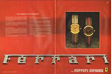 Publicité Advertising 1983  (Double page)  Montre FERRARI FORMULA