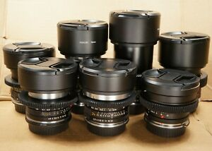 Vintage Set of 7 CINE Lenses Leica Summicron-R 21/24/28/35/50/90/135mm Canon EOS