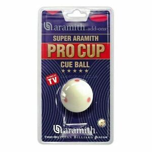 """Aramith Pro Cup cue ball ,pool ball , 1 7/8"""" UK pool ball size Clam pack Genuine"""