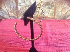 Gurhan Twisted Midnight 24k Gold Sterling Silver Hoop Earrings $1500