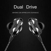 Dual Drive Earphone Headphones Earphones Gaming Stereo Music In-Ear Headset A3B1