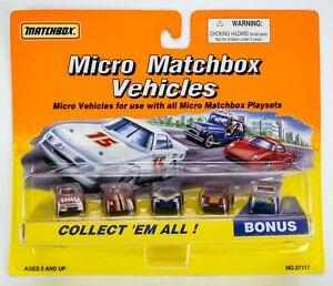 1996 Micro Matchbox Vehicles Euro Racers 5-Pack Ferrari / Lamborghini / Mercedes