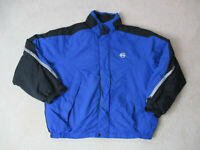 VINTAGE Nautica Jacket Adult Extra Large Blue Black Full Zip Spell Out Coat 90s*