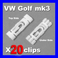 VW GOLF MK3 MK 3 ROOF GUTTER TRIM STRIP RAIN MOULDING CLIPS PLASTIC GTI VR6 X 20