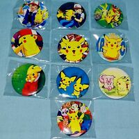 Pokemon - Pokémon Character Pikachu Wigglytuff Pichu Ash Button Pin Badge - 3cm