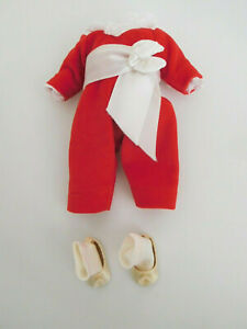 """Alexander 8"""" Tagged Red Boy One Piece Red Velvet Oufit w/Shoes & Socks"""