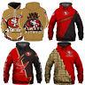 San Francisco 49ers 3D Hoodie Football Hooded Sweatshirt Sports Jacket Fans