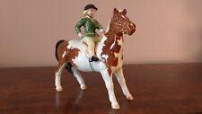 Beswick 'Girl on Pony' Skewbald Pony Model No 1499