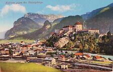 29591 AK Kufstein gegen das Kaisergebirge mit Bahnhof um 1920