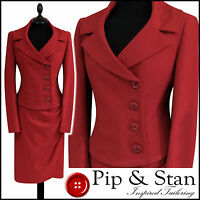NEW NEXT UK14/12 US10/8 RED PENCIL SKIRT SUIT 50S INSPIRED WOMENS LADIES SIZE