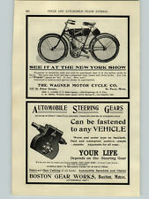 1906 PAPER AD Wagner Motorcycle St. Paul Minn Yale & Snell Bicycle