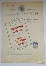 Programm Einheit Ost Leipzig Vorwärts Berlin 14.11.1954 DDR 1.FC Lok Frankfurt/O
