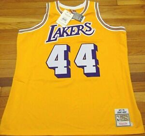 MITCHELL & NESS NBA HWC LOS ANGELES LAKERS JERRY WEST 1971-72 JERSEY SIZE 56 3XL