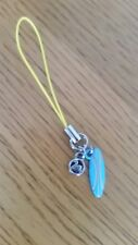 Genuine Swarovski phone / purse charm Turquoise enammeled charm with swan logo
