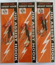 Assist Hooks  Excellent Quality Size 6/0 Jig  jigs jigging Micro x 6