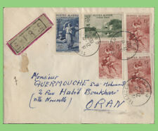 More details for algeria 1957 multi franked (inc army welfare) on express cover to oran