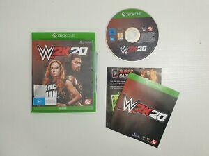 WWE 2K20 Microsoft Xbox One Game BONUS SUPERCARD QR CODE COMPLETE